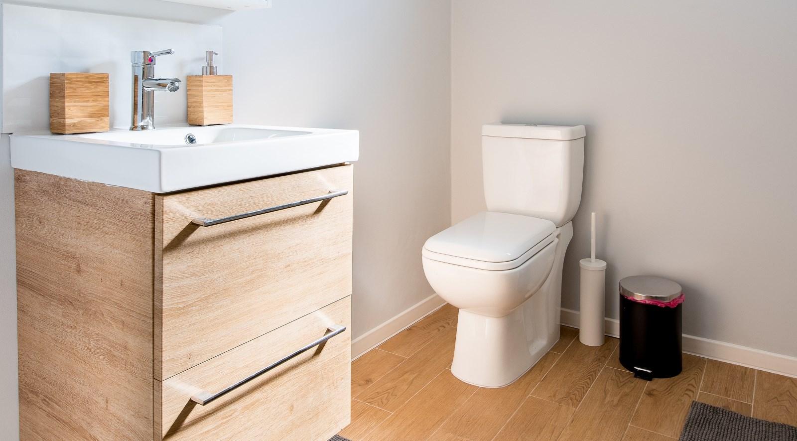 empty bathroom with toilet-constipation during pregnancy